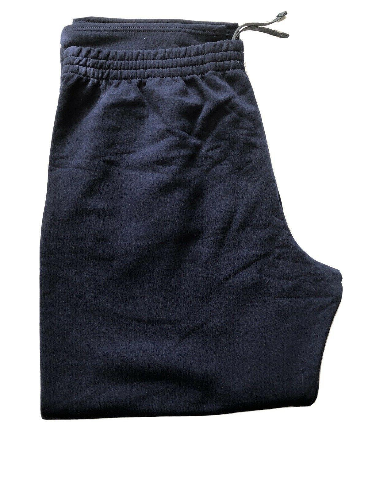 fleece elastic waist sweatpants men s blue