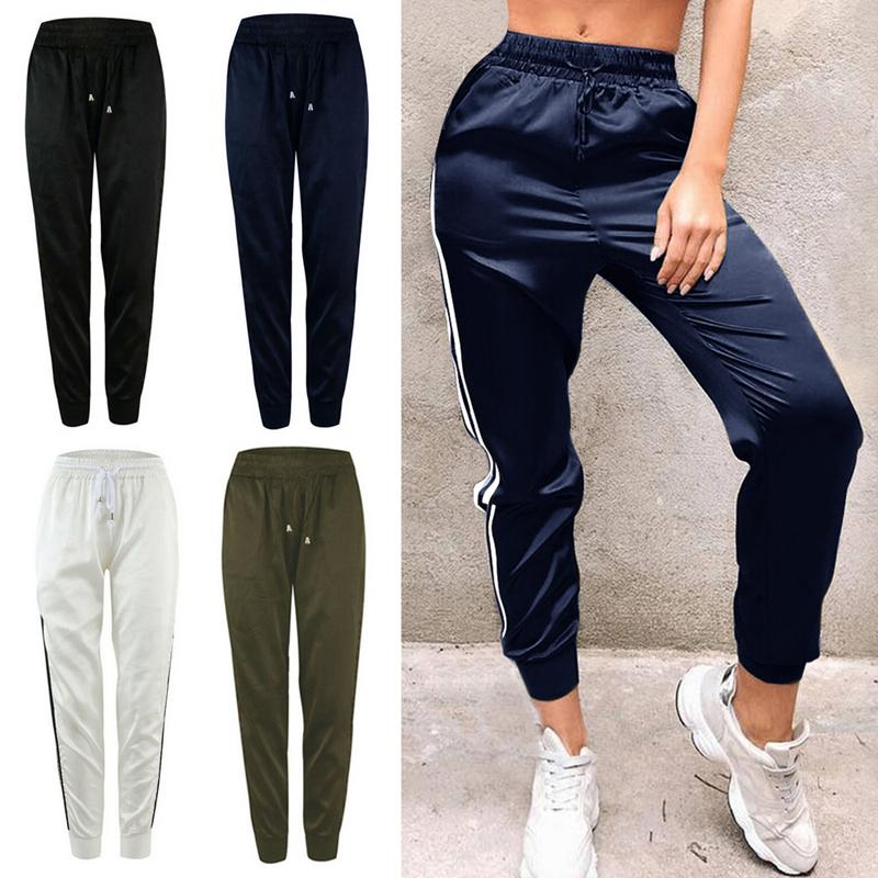 <font><b>Women</b></font> Loose Elastic Waist <font><b>SweatyRocks</b></font> Pencil Trousers