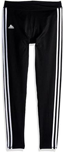 adidas Girls' Big Performance Tight Legging, Black Adi, Medi