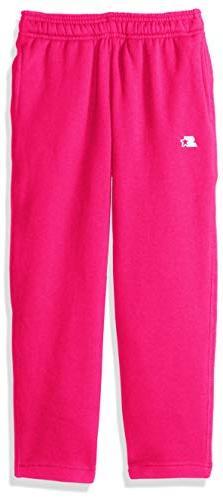 Starter Girls' Open-Bottom Sweatpants with Pockets, Amazon E