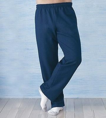 GILDAN Fleece Men's Open Bottom Sweatpants 18400 G18400-New!
