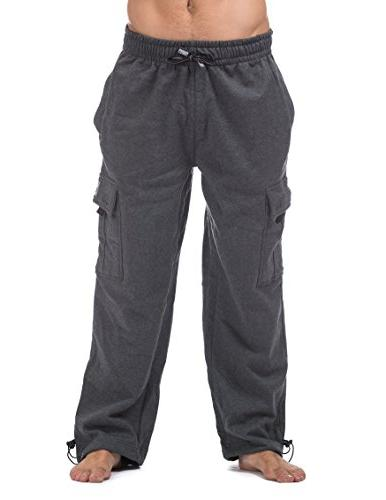 heavyweight fleece cargo pants
