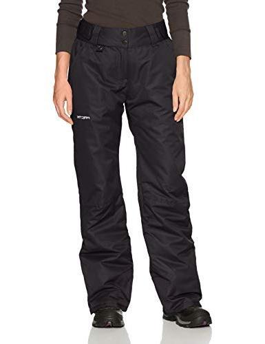 Arctix Women's Insulated Snow Pant, Black, 1X-Large/Regular