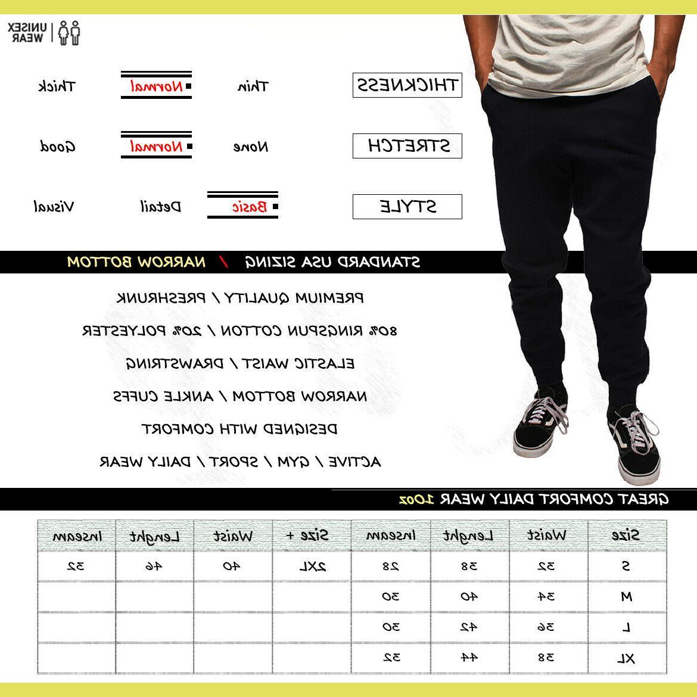 Jogger Men Jogging Slim Fit Fleece Sport Gym Basic