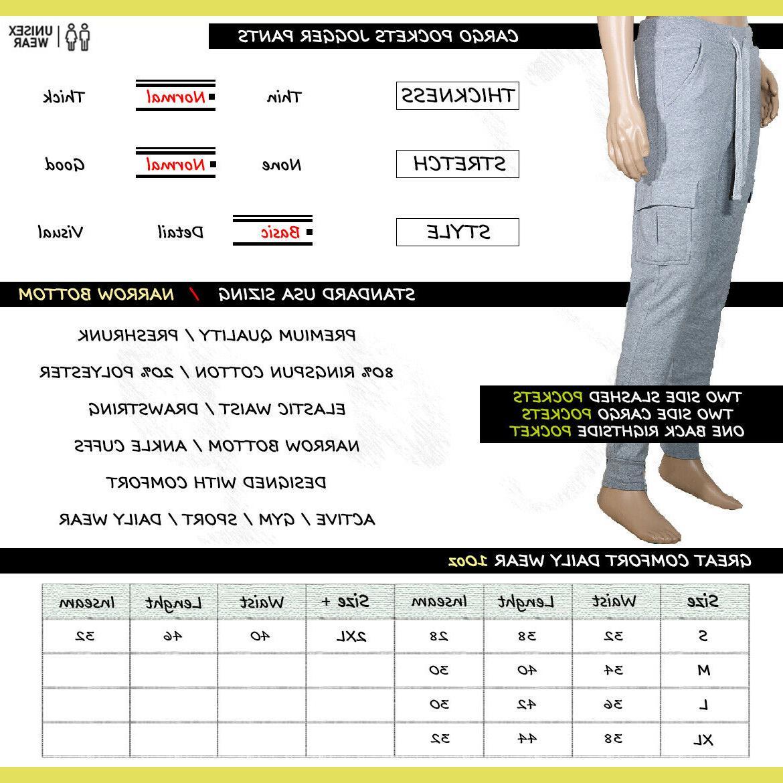 Jogger Pants Slim Fleece Gym Workout Sweatpants Basic