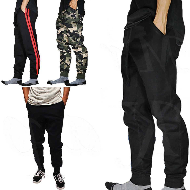 jogger pants men jogging slim fit fleece