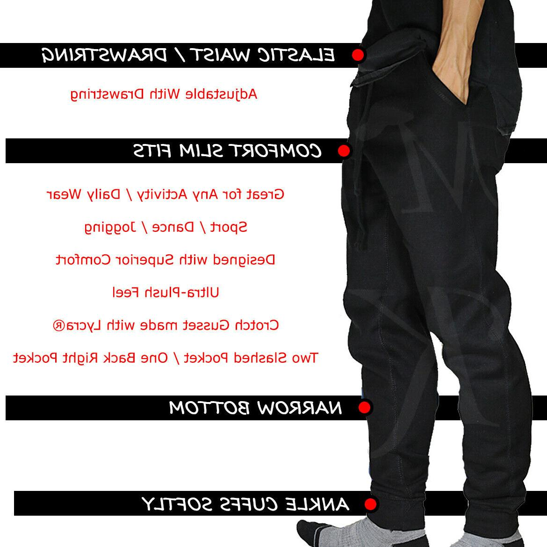 Jogger Pants Men Jogging Slim Fit Fleece Gym Sweatpants Basic