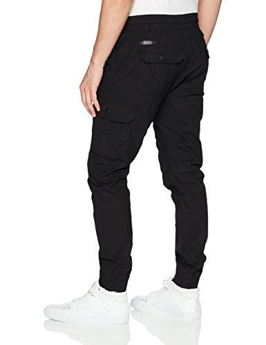 Southpole Men's Washed Ripstop Fabric Cargo Stretch, Large