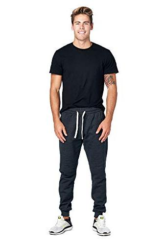 ProGo Men's Basic Fleece Marled Pant