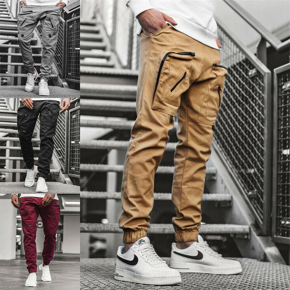 man s casual joggers pants sweatpants cargo