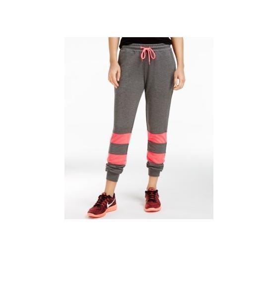 material girl active juniors colorblock sweatpants w