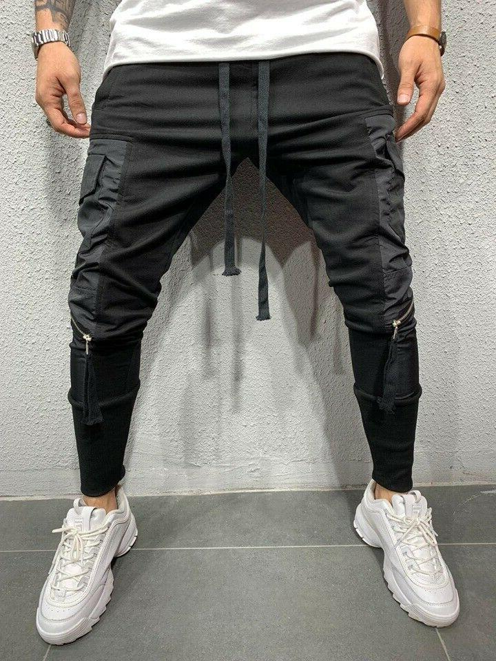 Men Pants Sweatpants Sports Slim-Fit