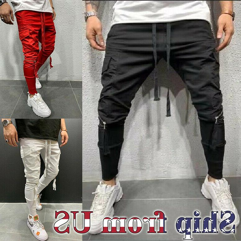 men casual baggy joggers pants sweatpants active