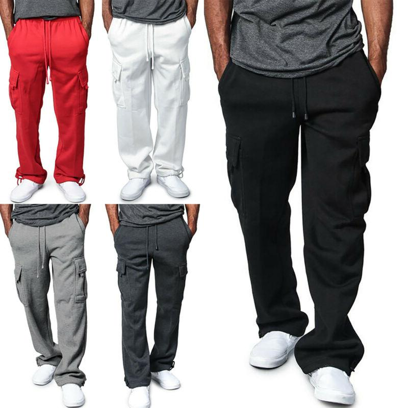 Men Sweat Pant Gym Sports Sweatpants Workout Elastic Jogging