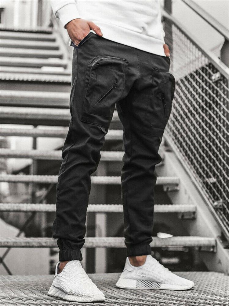 Men Sweatpants Cargo Active Sports Trousers