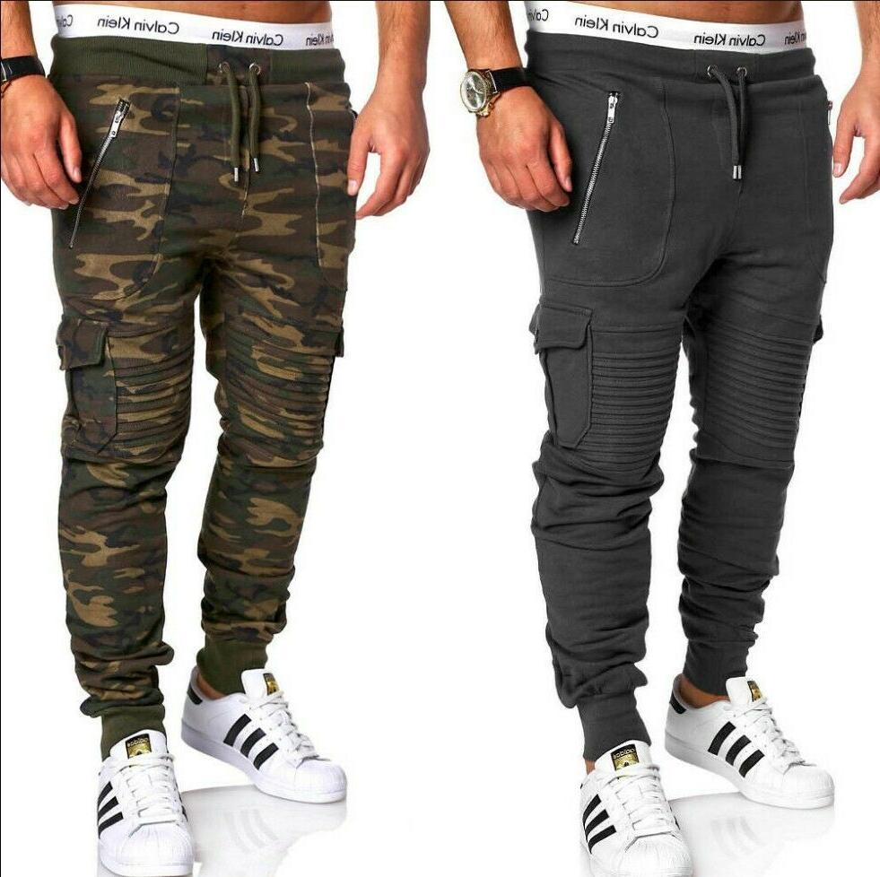 Men Sweatpants Cargo Combat Active Sports Trousers