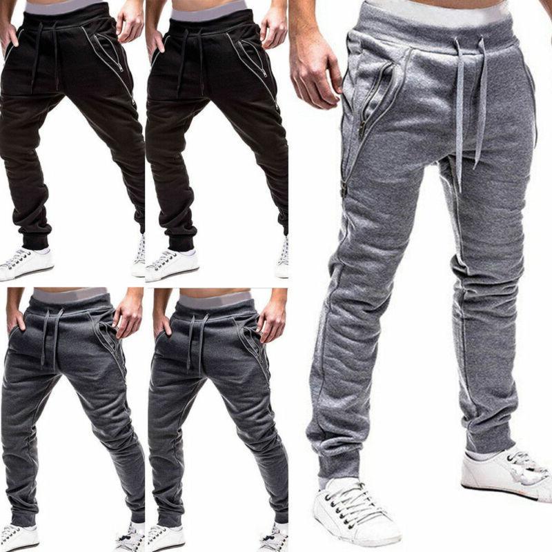 Men Casual Pants Running Joggers New