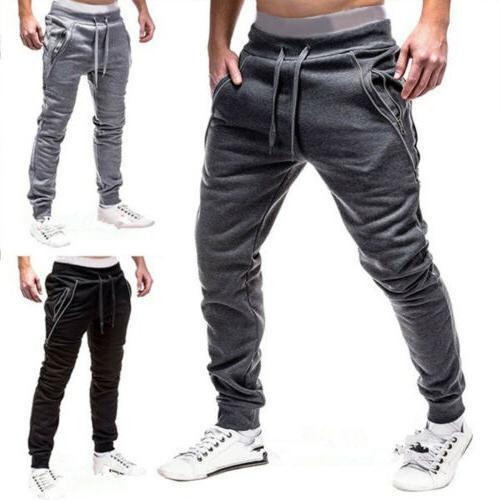 men casual sport long pants slim fit