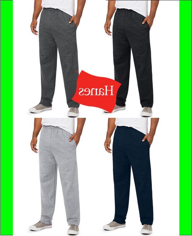 men fleece sweatpants w pockets comfortsoft ecosmart