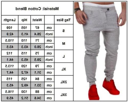 Mens Slim Fit Workout Pants Sport Trousers