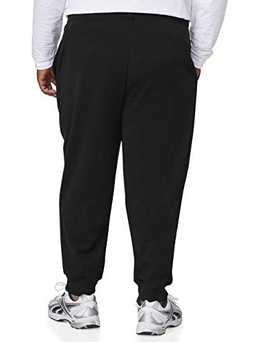 Amazon Men's Big and Tall Bottom Fleece DXL, Black,