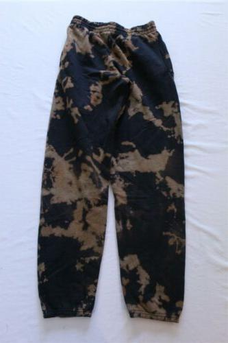men s bleach dyed sweatpants sv3 black