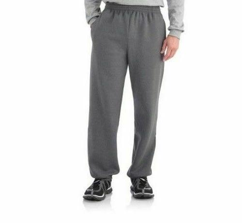 men s charcoal gray elastic bottom sweatpants
