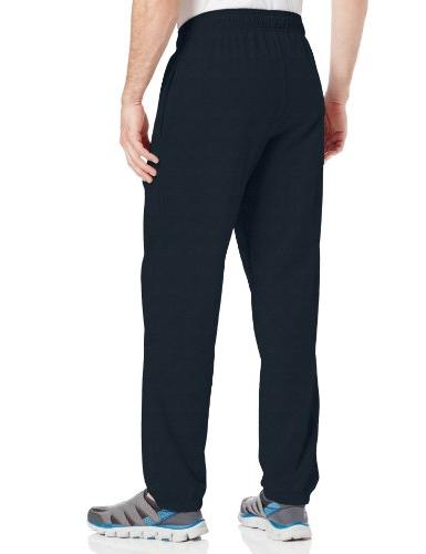 Hanes Closed Bottom Jersey Pants, Blue - Extra Large