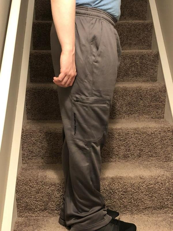 Men/'s Under Armour Cold Gear Loose Fit Sweat Pants Steel