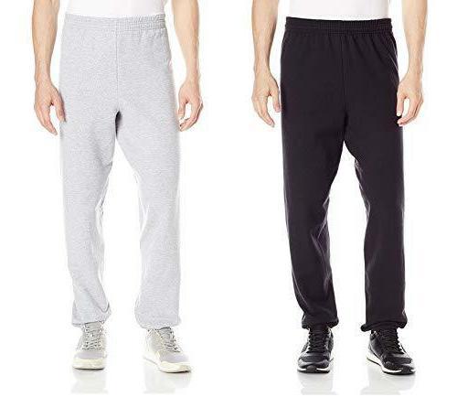 4b9d59e42 Hanes Men's EcoSmart Fleece Sweatpant , Black/Grey
