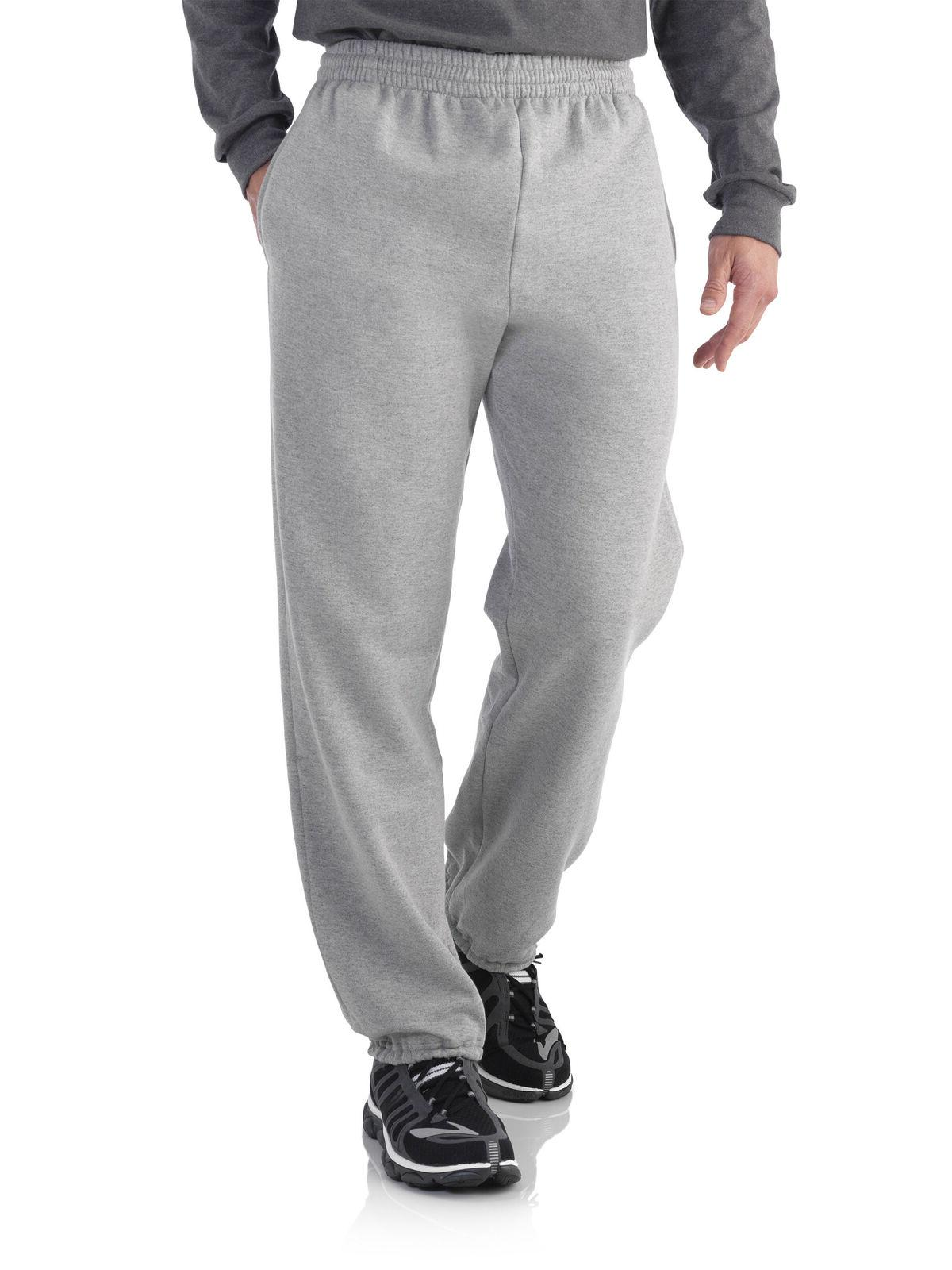 men s elastic bottom sweatpants size large