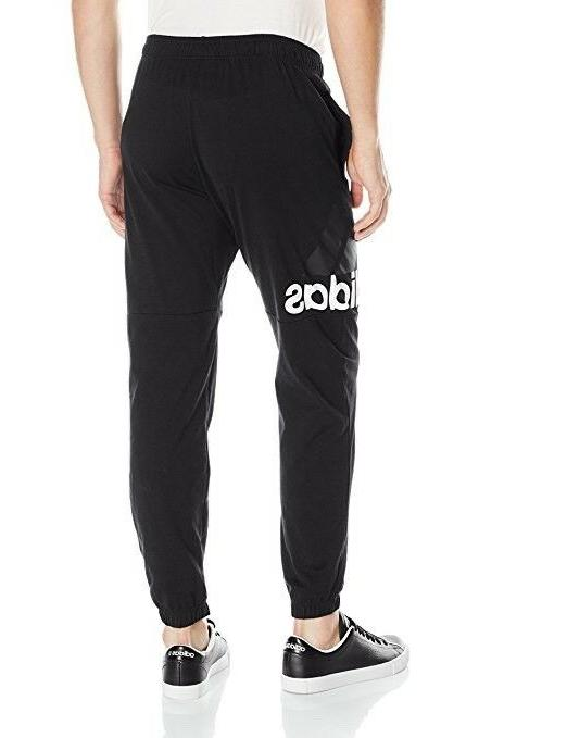 adidas Men's Performance Logo Pants Black/White