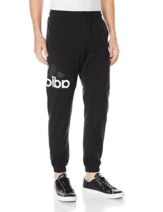 men s essentials performance logo pants black