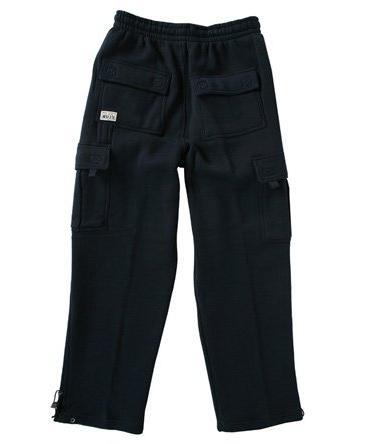 men s fleece cargo pants sweatpants navy
