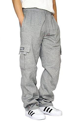 men s fleece cargo sweatpants heavyweight xl