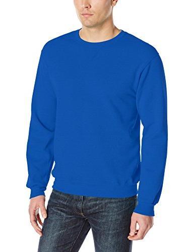 men s fleece crew sweatshirt royal x