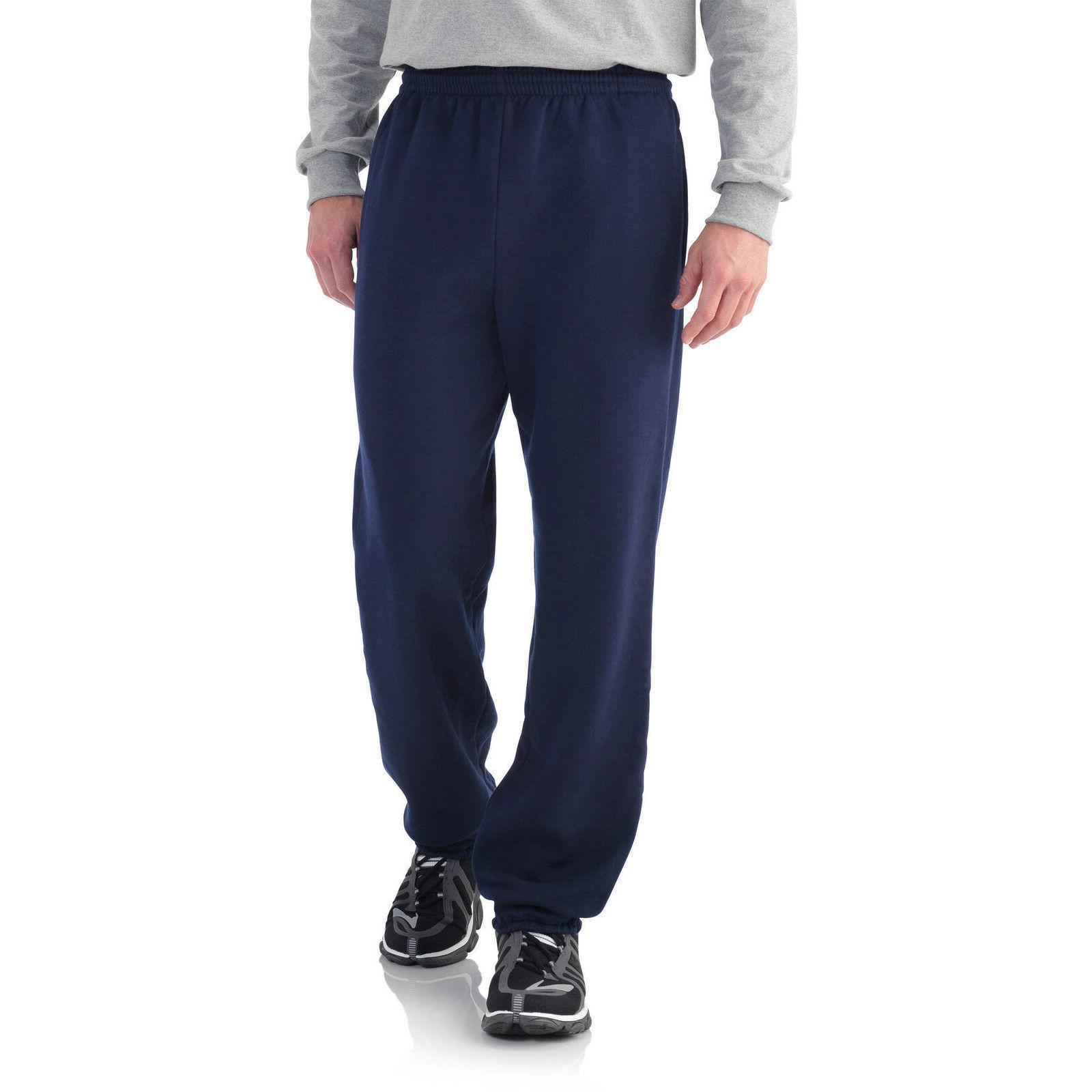 men s fleece elastic bottom pant new