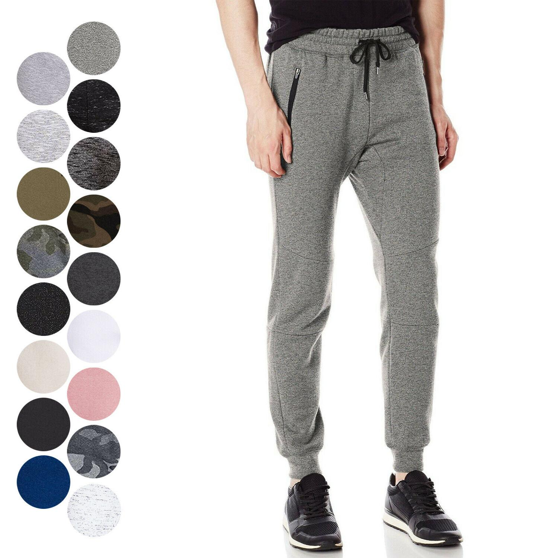 men s fleece jogger pants active zipper