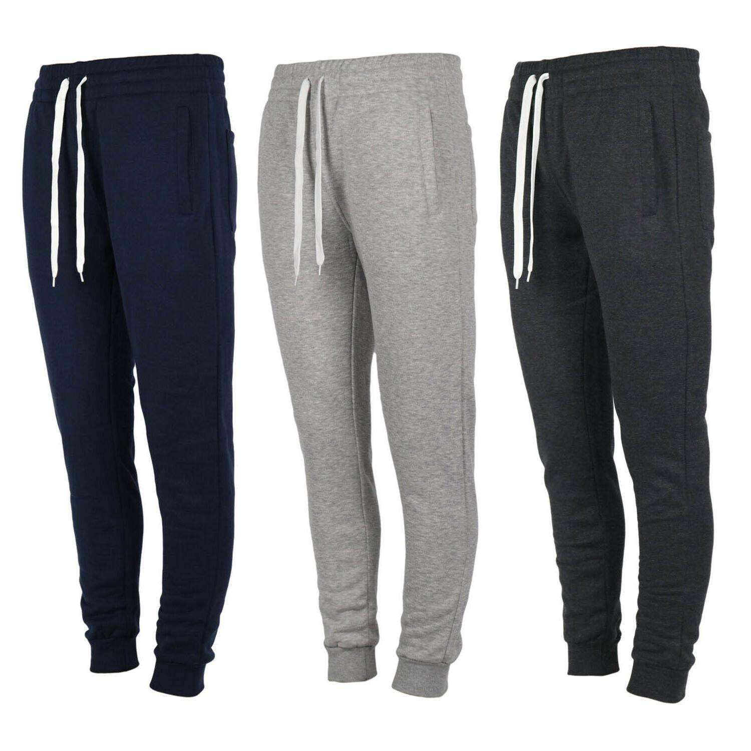 men s fleece jogger pants marled casual