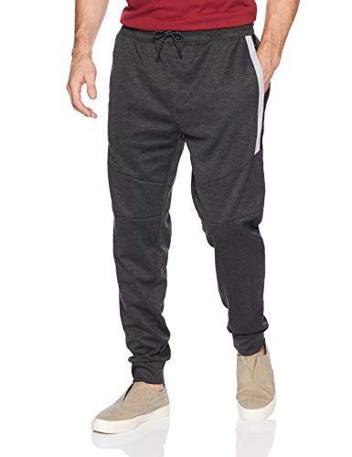 men s fleece joggers heather charcoal colorblock