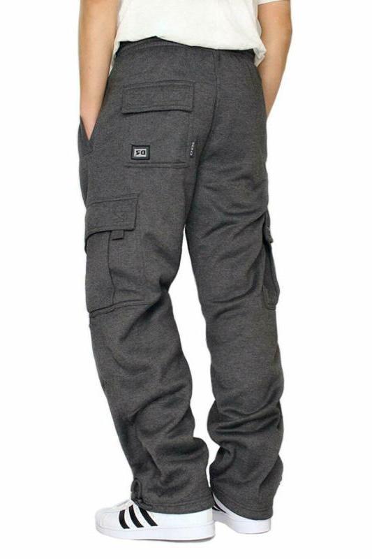 Dream Usa Men'S Fleece Cargo Sweatpants