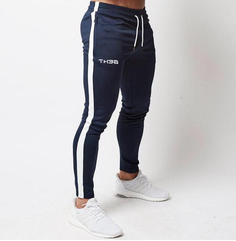 Men's High <font><b>Brand</b></font> Men Elastic Pants bodybuilding clothing casual camouflage pants
