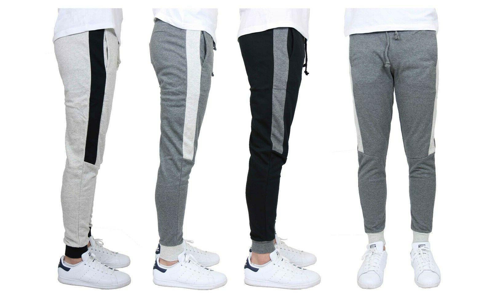 men s jogger sweatpants w side stripe
