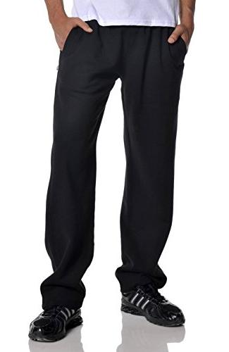 men s open bottom comfort fleece sweatpant