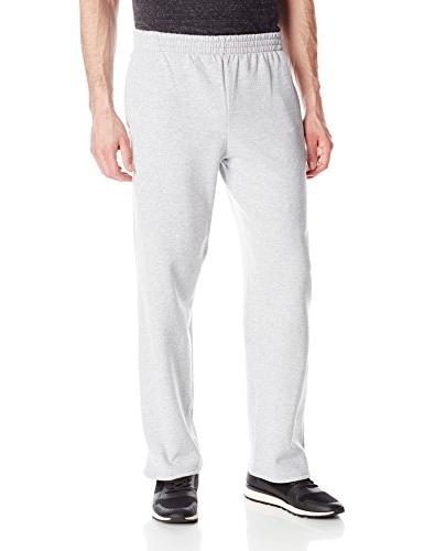 men s pocketed open bottom sweatpant athletic