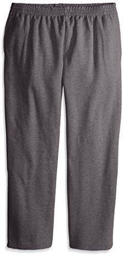 men s pocketed open bottom sweatpant charcoal