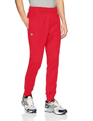men s reverse weave jogger team red