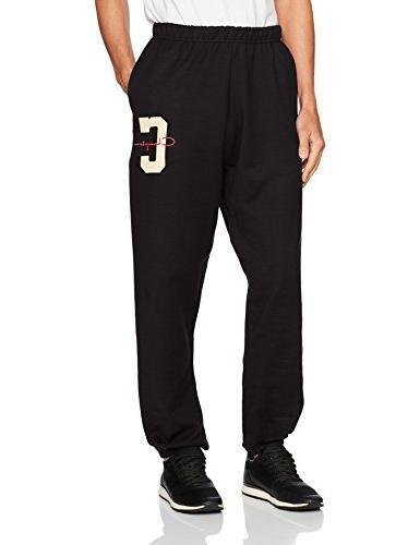 men s reverse weave pants pockets black