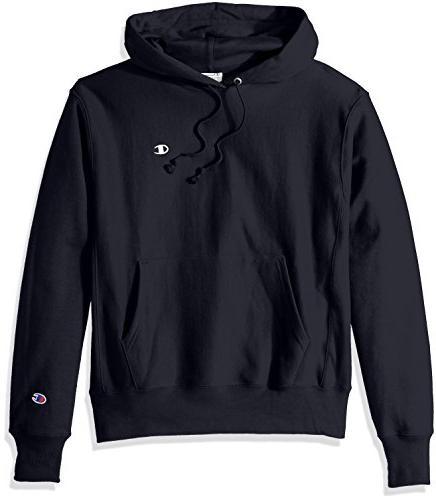men s reverse weave pullover hoodie navy