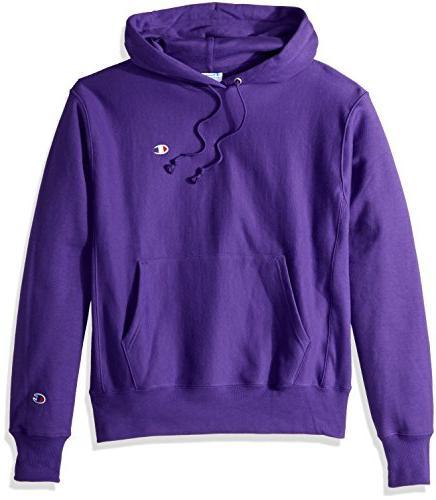 men s reverse weave pullover hoodie purple